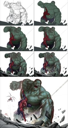 Hulk vs Spidey (feat. Superior Spidey) by InHyuk Lee. ► get more @rohitanshu ◄