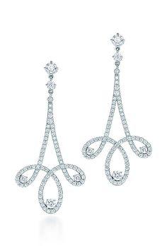 Brides.com: . The Glamorous Bride: Earrings. Tiffany Enchant® Scroll Earrings, Tiffany & Co.