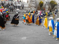Danza de Moros y Cristianos en San Juan Totolac Tlaxcala, foto compartida por pobladores.