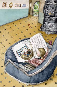 Reader reading. What about reading? / Leyendo la lectura. Qué lee? (ilustración de Irina Dobrescu)