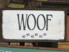 Handmade Wood Sign - Rustic - Primitive Decor  - Wall Art - Dog - Paw Prints - Signage - Distressed on Etsy, $25.00