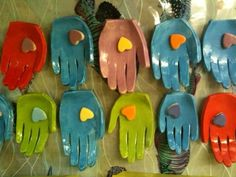 Clay hands - using Kissing Hand poem pinned before this pin