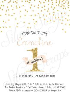 Gold Glitter Confetti Custom Birthday Party by silverscraps