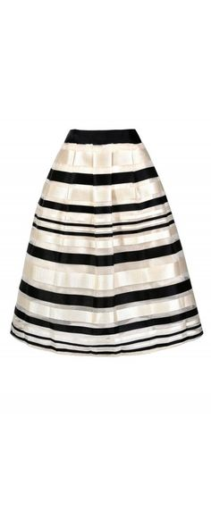 Strike The Right Note Black and Ivory A-Line Skirt  www.lilyboutique.com