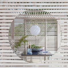 """2LG Studio founders create garden pavilion with a """"touch of Beetlejuice"""" Indoor Outdoor Living, Outdoor Dining, Timber Slats, Garden Pavilion, Tidy Kitchen, Timber Structure, Pavilion Architecture, Outdoor Seating Areas, Japanese House"""