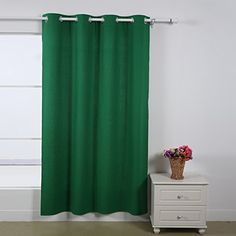 Deconovo Green Grommet Top Recyled Polycotton Curtain Panel 52 By 84 Inch with Silver Coating to Reflect Sunlights,1 Panel Deconovo http://www.amazon.com/dp/B00OR2BFJM/ref=cm_sw_r_pi_dp_SG.2vb1K93M7J