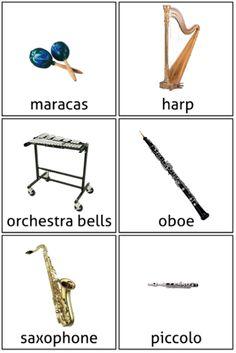 Instrument flashcards w/ names