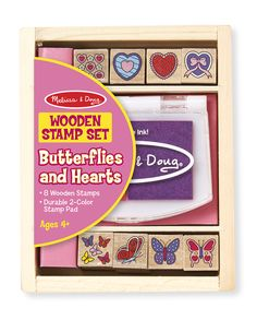 Butterfly and Hearts Stamp Set | Melissa & Doug