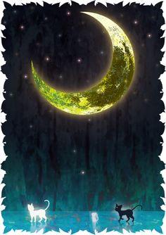 月の光に導かれ | ケモち [pixiv] http://www.pixiv.net/member_illust.php?mode=medium&illust_id=45806498