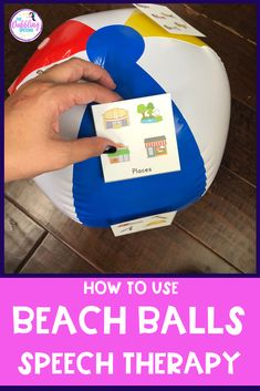 Need more summer speech therapy activities? Grab a beach ball and use it to target all sorts of goals for speech. Articulation Therapy, Speech Activities, Speech Therapy Activities, Speech Language Pathology, Language Activities, Speech And Language, Speech Therapy Autism, Occupational Therapy, Summer Activities
