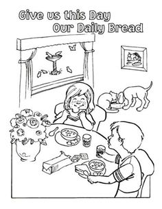 free lords prayer coloring pages for children and parents - S Colouring Pages