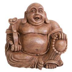 Top Fin® New Asian Brown Laughing Buddha - PetSmart Fish Ornaments, Aquarium Ornaments, Laughing, Buddha, Turtle, Lion Sculpture, Fish Tanks, Asian, Statue