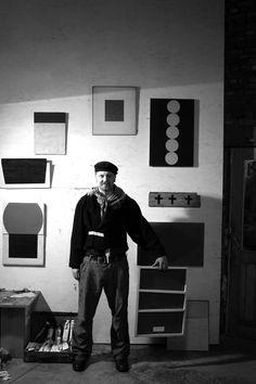 Mario De Brabandere i the studionof Luc Hoekx,  Mol, october 2004 (photo Luc Hoekx)