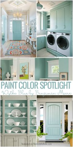 Wythe Blue By Benjamin Moore @Remodelaholic Interior Paint, Interior Colors, Light Blue Paint Colors, Light Blue Walls, Best Paint Colors, Light Blue Houses, Paint Colours, Wyeth Blue Benjamin Moore, Benjamin Moore Paint