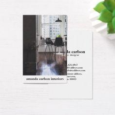#professional - #Custom Photo modern bold for Architects designer Business Card