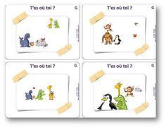 T'es où toi ? Un jeu de repérage spatial Preschool Classroom, Kindergarten Math, Preschool Crafts, Preschool Jobs, Classroom Jobs, Teaching Activities, Name Activities, Activities For Kids, Math Addition