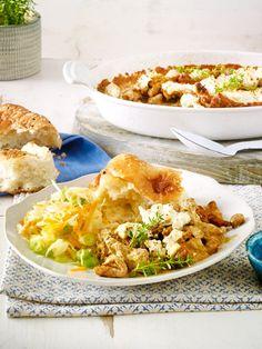 Heute gibt es die Leibspeise vom Griechen mal als Auflauf aus dem Ofen