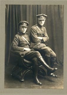 Emmet Dalton, left, and Charlie Dalton, pictured after the war of independence in Ireland, in the distinctive uniform of the Dublin Brigade in the national army. Republic Of Ireland, The Republic, Irish American, American History, Ireland 1916, Irish Independence, Glasgow Girls, Easter Rising, Michael Collins