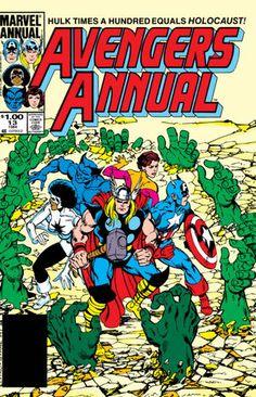 The Avengers Annual # 13 Marvel Vol. Marvel Comics Superheroes, Hulk Marvel, Marvel Comic Books, Comic Books Art, Captain Marvel, Comic Art, Marvel Characters, Captain America, Dc Comics