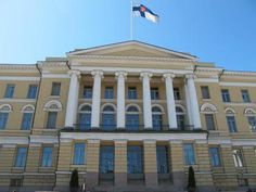 The main building of the Helsinki University, Helsinki, Finland