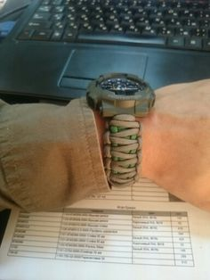 G-shock paracord watchband