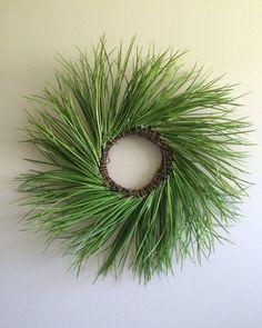 Grass Wreath / Green Wreath / Spring Wreath / by SouleHomeDecor