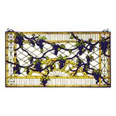 Found it at Wayfair - Victorian Grape Diamond Trellis Stained Glass Window