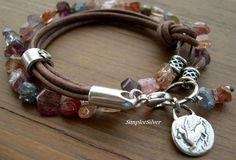 Leather+Wrap+Bracelet++++Artisan+Jewelry++++by+SimpleeSilver