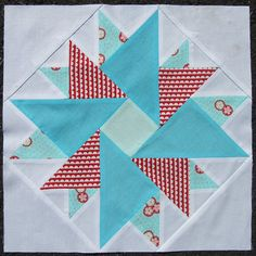 Double Aster Block. See the pattern here... http://www.quilterscache.com/D/DoubleAsterBlock.html