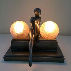 RARE Art Deco FRANKART L250 Deco Lamp | eBay