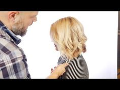 How to cut a Layered Bob - Haircut Tutorial Step by Step - TheSalonGuy - YouTube