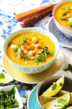 Zupa z ciecierzycy - idealna na jesień - Madame Edith Thai Red Curry, Recipies, Food And Drink, Ethnic Recipes, Diet, Recipes, Food Recipes, Rezepte
