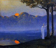 fleurdulys:  The Muse at Sunrise - Alphonse Osbert 1918