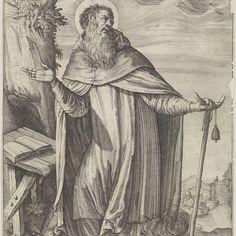 Heilige Antonius, Justus Sadeler (mogelijk), naar Odoardo Fialetti, 1600 - 1620 - Rijksmuseum