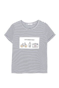 Back to School 2015: Zara stripped graphic T-shirt. [Photo: Courtesy]