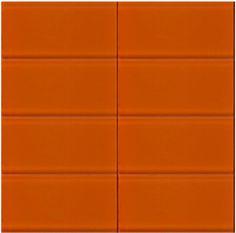 Lush 3x6 Saffron - Yellow Glass Subway Tile   Colorful Modern Tile ...