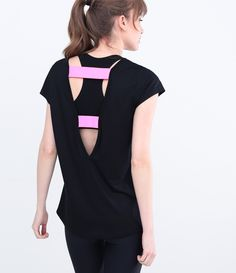 Camiseta Esportiva Feminina com Detalhe nas Costas - Lojas Renner