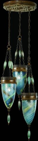 Beautiful Art Nouveau pendant light