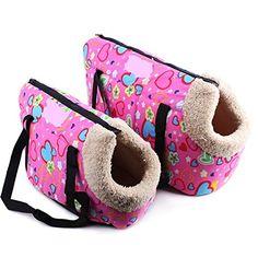 Komia Portable Pet Bag 2 Piece Soft for Puppy Dog Small Cat Pet Shoulder Carrier Bag -- For more information, visit image link.