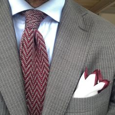 Today #knitted #tie + silk #pocketsquare ✂️