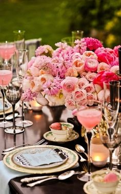 A table/placesetting for Brunch