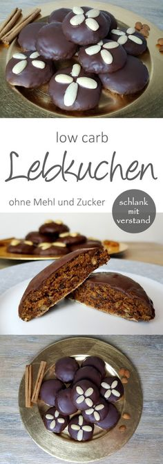 low carb Lebkuchen Rezept ohne Mehl und Zucker low carb gingerbread recipe without flour and sugar Paleo Dessert, Healthy Dessert Recipes, Baking Recipes, Cookie Recipes, Healthy Cookies, Diet Recipes, Chicken Recipes, Vegan Recipes, Low Carb Sweets