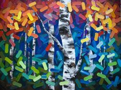 """Painting Commission """"From Where We Come"""" 48″×36″ Contemporary Abstract Landscape Artist Melissa McKinnon features BIG COLOURFUL PAINTINGS of Aspen & Birch Trees, Rocky Mountains and stunning views of the Canadian prairies, big skies and ocean beaches. Be the first to hear about NEW PAINTINGS, works in progress and news from my studio, Sign Up For MyMonthly EMAIL NEWSLETTER! http://eepurl.com/rqj-L  Website & Blog: www.melissamckinnon.wordpress.com"""