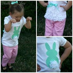 Ruffled Easter Bunny Shirt- Gonna make this for Reagan's birthday shirt for her bunny party