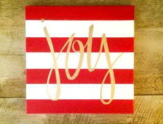 Joy- 12x12 striped c...