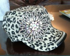 Leopard Bling Cap $40 ***TEMPORARILY SOLD OUT*** To pre-order email simplychictoo@gmail.com