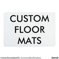 Custom Personalized Floor Mat Blank Template