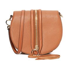 Mara saddle bag by Rebecca Minkoff. A decorative zip punctuates the magnetic top flap of this pebbled leather Rebecca Minkoff saddle bag. Slim back pocke...