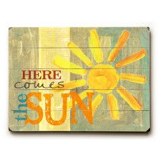 Here Comes the Sun Wooden Wall Decor