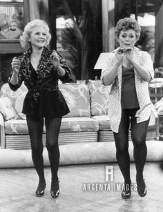 Betty White and Rue McClanahan